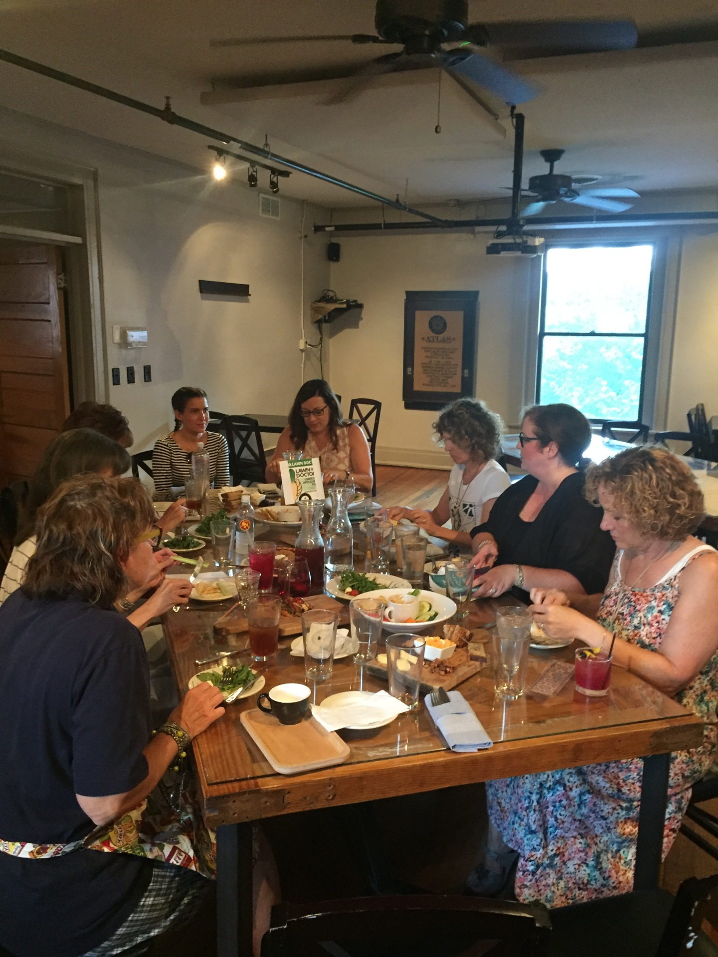 "Book club meeting to discuss ""Finding Franklin"""